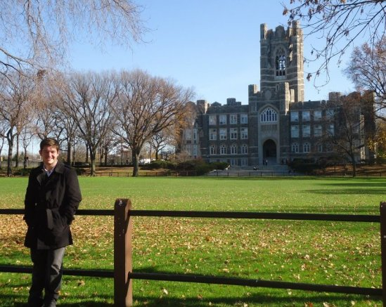 Stood on the beautiful campus of my soon-to-be Alma Mater,  Fordham University